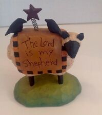 Blossom Basket The Lord Is My Sheperd Resin Figure Sheep Sheperd