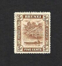 Brunei 1924 5c SG 62a fine used