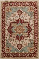 IVORY Geometric Oriental Area Rug Hand-tufted Wool Traditional Carpet 10x13 ft