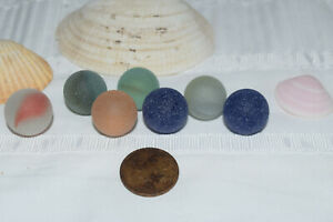 Wonderfull group of marbles ,Beach finds, England