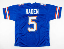 JOE HADEN SIGNED FLORIDA GATORS BLUE  #5 CUSTOM XL JERSEY WITH BECKETT COA