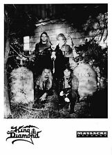 King Diamond-Awesome promo press photo 1990's - Mercyful Fate-Heavy Metal