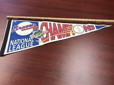 Vintage 1991 Atlanta Braves World Series NLCS Champions 30x12 Pennant