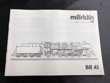 Märklin H0 Br 41, nur die ORIGINALBESCHREIBUNG/ Instruction von 2001/02