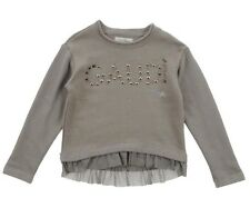 GAUDI TEEN girls Green Sweatshirt With Tulle Trim And Studded Lettering BNWT Sz8