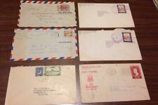 Lot Of 6 Envelopes/Stamps 1951-1952 Pakistan Dominican Republic Phillipines More
