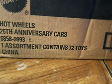 25th Anniversary Hot Wheels H Case Set Of 8 Cars
