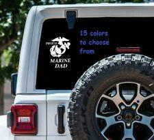 8 Sizes Proud Marine Dad Car Window Decal Sticker Tablet Macbook Laptop