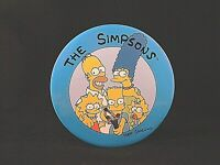 """Vintage ~ 1989 Bart Simpson The Simpsons Family Huge Pin Back Button 6"""" Diameter"""