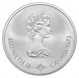 1973 $10 Canadian Canada Olympic Silver Coin *477