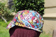 CYCLING CAP MARVEL COMIC HANDMADE IN USA  ONE SIZE ANY SIZE