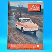 Der Deutsche Straßenverkehr 11/1960 DDR Saporoshez Borgward Budapest Zelten C