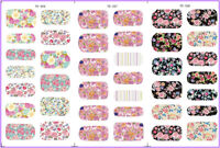 Nail Art Water Decals Transfers Stickers Spring Flowers Floral Roses Shabby Chic