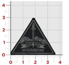 "•	ISAF SOF Afghanistan Shoulder Patch, Brand New, Silver and Black, Approx 3""X3"""