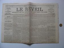 1869 LE REVEIL journal de la democratie des deux mondes DELESCLUSZE