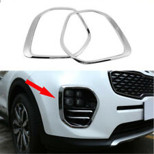 For Kia Sportage KX5 QL 2015-2018 2Pcs Chrome Front Fog Lamp Cover Trim Frame
