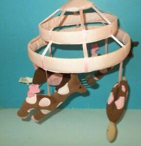 Lambs & Ivy Elephant Giraffe Turtle Animals Baby Crib Mobile PART