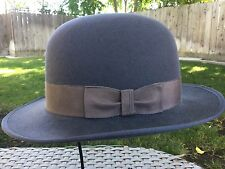 SMITHBILT KNIGHT BOWLER CANADIAN MADE L LARGE 7 3/8 GRAY LEATHER BAND