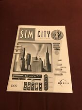 Maxis USER MANUAL ONLY Sim City Classic DOS 55 pages 1993 no game Book