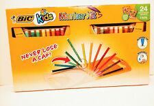 Brand new BIC KIDS MARKER KITS  24 water based markers with 2 carrying cases