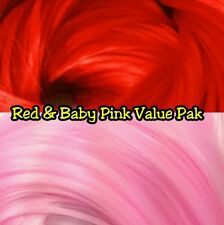Baby Pink & Red XL 4oz 2 Color Value Pak Nylon Doll Hair Hanks for Rerooting