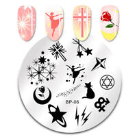BORN PRETTY Nail Art Stamping Plate Angel Star Moon Image Stamp Template 06