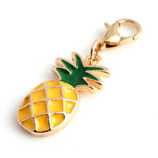 Enamel Pineapple Fruit Pendant Charms Clasp Handbag Key Ring Car Keychain Calm