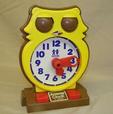 Vintage 1975 Tomy OWL Answer Clock, Teach / Learn to tell time