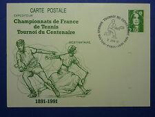 LOT 12185 TIMBRES STAMP ENVELOPPE SPORTS ET JO FRANCE ANNEE 1991