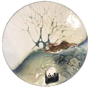 Norman Brumm Enamel on copper plate bunny rabbit