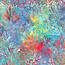 Batik -  Totally Tropical 5 - Deep Aqua - by Lunn Studios for Robert Kaufman