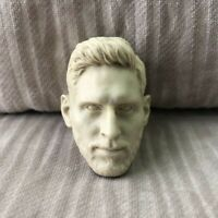 Free Shipping 1/6 scale blank Head Sculpt Lionel Messi Football Star unpainted