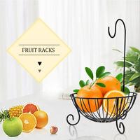 UK 2 In 1 Chrome Banana Hook Hanger Tree Fruit Bowl Basket Stand Apple Orange