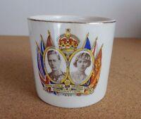 King George VI & H.M Queen Elizabeth Coronation Beaker Short Made In England
