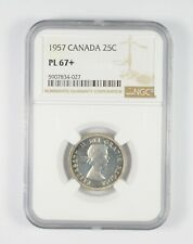 PL67+ 1957 Canada 25 Cents - Graded NGC *092
