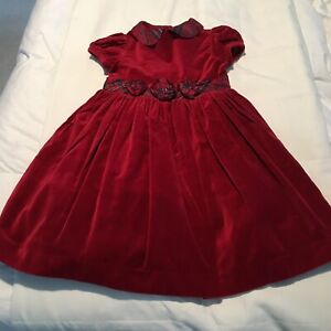JANIE AND JACK GIRLS LINED DRESS SIZE 4 RED