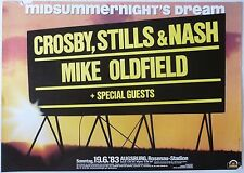 CROSBY, STILLS & NASH / MIKE OLDFIELD 1983 GERMAN CONCERT TOUR POSTER