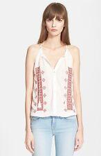 NWT! Joie 'Danelle C' Embroidered Cotton Top   Sz L   A078