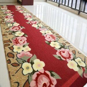 3D Flower Carpet Hallway Carpets Door Mat Room Tea Rugs Bathroom Antiskid Mats
