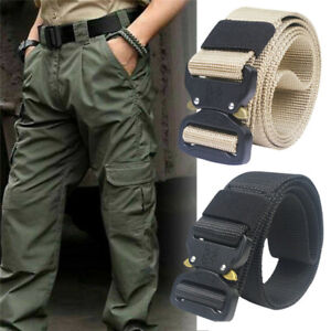 Fashion Men Outdoor Tactical Belt Military Waistband Army Canvas Web Strap Sport