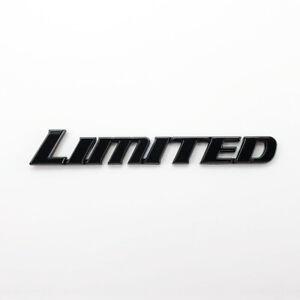 2pc Fits Toyota Tundra Tacoma 4Runner Limited Gloss Black Emblem Pillar Side