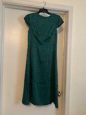 Ted Baker Short Sleeve  Jaquard Midi-Dress Green Cheetah Ted Baker Size 2 US 4/6