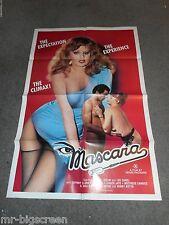 MASCARA - ORIGINAL FOLDED POSTER - LISA DE LEEUW - 1983