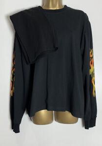 Asos Sample Black Cotton Jersey Short Lounge/ Pyjama Set Size 10