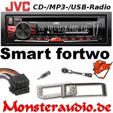 JVC Autoradio SMART Fortwo MC01 450 Bj. 98-07 CD MP3 USB Radio + Adapter Blende