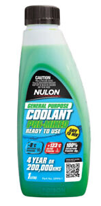 Nulon General Purpose Coolant Premix - Green GPPG-1 fits Fiat 1500-2300 1500 L