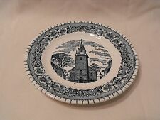 Royal China USA Blue and White  Colonial Heritage  Bread Butter Plate  6 3/8""