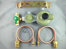 Marshall High Capacity House LPG 2 Stage Regulator 2 X 500mm Pig Tails & Tap