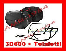 BORSE LATERALI 3D600 TPH10 + TELAIO TE4109 KAWASAKI Z800 2013 11 litri 18/28x2