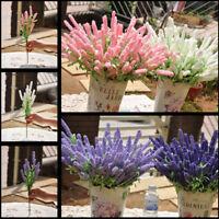 Lavender Simulation Bouquet 12 Head Garden Yard Decor Artificial Floral Bunch G5